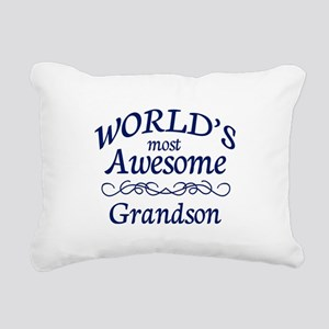Awesome Grandson Rectangular Canvas Pillow
