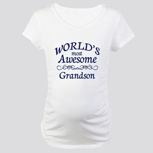 Awesome Grandson Maternity T-Shirt