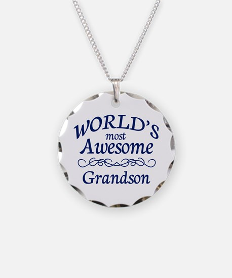 Awesome Grandson Necklace