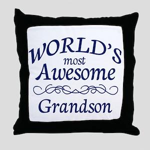 Awesome Grandson Throw Pillow