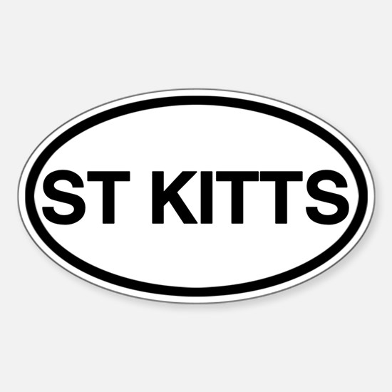 St. Kitts Sticker (Oval)
