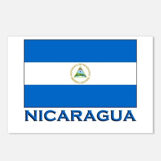 Nicaragua Flag Gear Postcards (Package of 8)