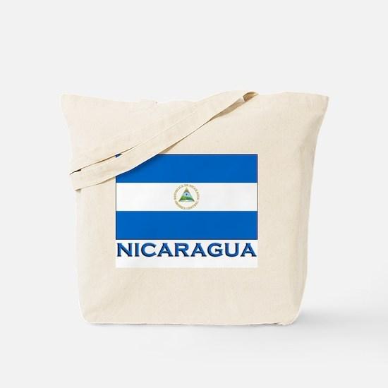 Nicaragua Flag Gear Tote Bag