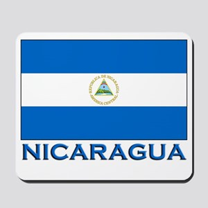 Nicaragua Flag Gear Mousepad