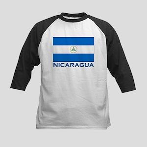 Nicaragua Flag Gear Kids Baseball Jersey