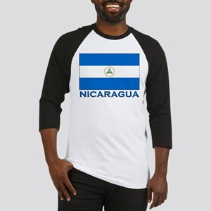 Nicaragua Flag Gear Baseball Jersey