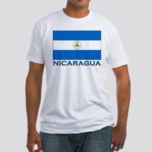Nicaragua Flag Gear Fitted T-Shirt