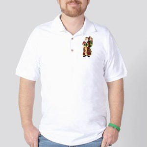 Santa Claus In The Forest Golf Shirt