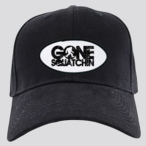 gone squatchin distressed Black Cap