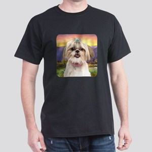 Shih Tzu Meadow Dark T-Shirt