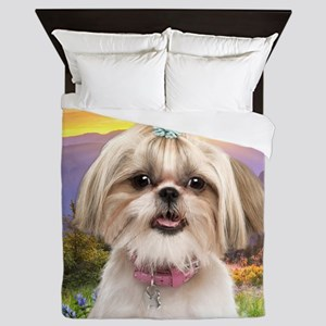Shih Tzu Meadow Queen Duvet