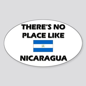 There Is No Place Like Nicaragua Oval Sticker