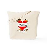 Autism Advocate Tattoo Heart Tote Bag