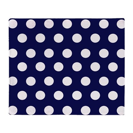 Black Polka Dot Throw Blanket