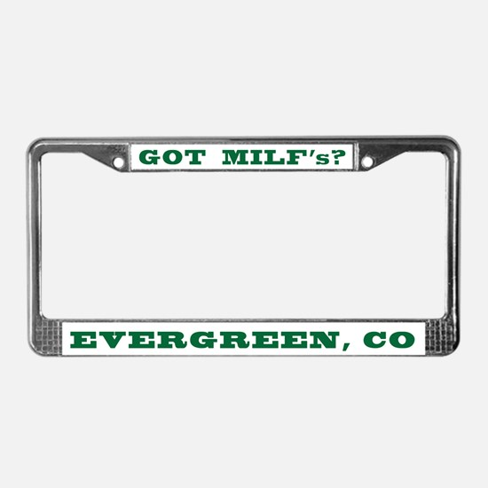 Funny Milf License Plate Frame