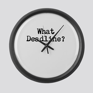What Deadline Large Wall Clock
