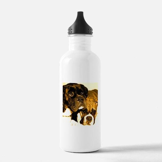 Boxer Dog Friends Water Bottle