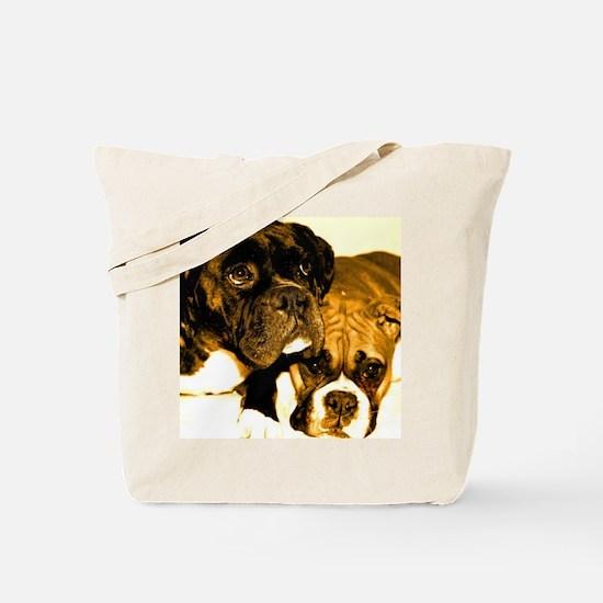 Boxer Dog Friends Tote Bag