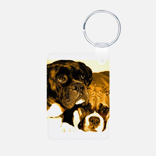 Boxer Dog Friends Keychains