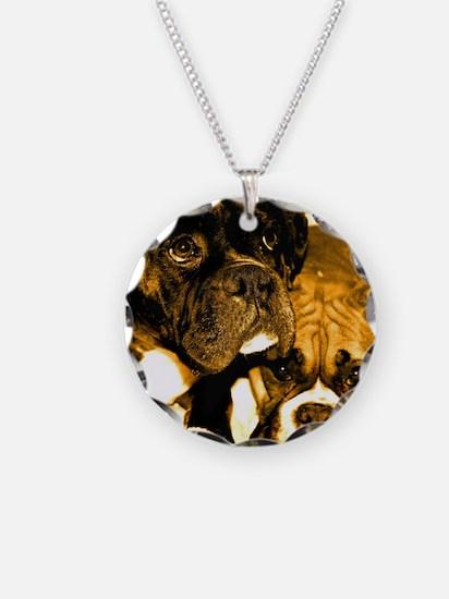 Boxer Dog Friends Necklace