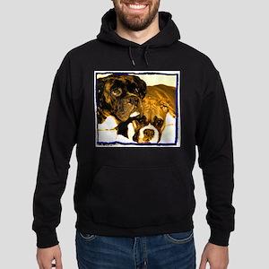 Boxer Dog Friends Hoodie (dark)
