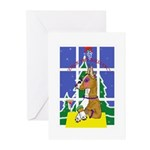 Christmas Holiday Boxer Greeting Cards (Pk of 10)