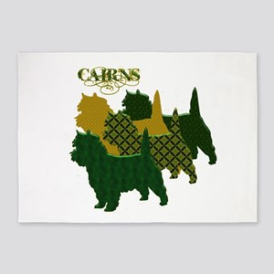 Cairn Terrier Silhouttes 5'x7'Area Rug