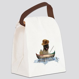 Cairn Terrier Fishing Canvas Lunch Bag