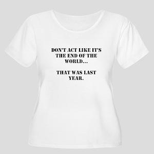 Don't Act Women's Plus Size Scoop Neck T-Shirt