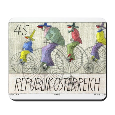 1985 Austria Bicycles Postage Stamp Mousepad