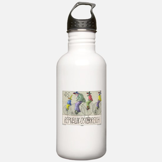 1985 Austria Bicycles Postage Stamp Water Bottle