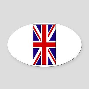 Union Jack2 Oval Car Magnet