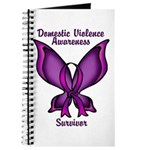 Domestic Violence Awareness Butterfly Ribbon Journ