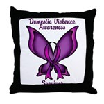 Domestic Violence Awareness Butterfly Ribbon Throw