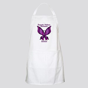 Domestic Violence Awareness Butterfly Ribbon Apron