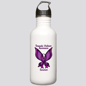 Domestic Violence Awareness Butterfly Ribbon Stain