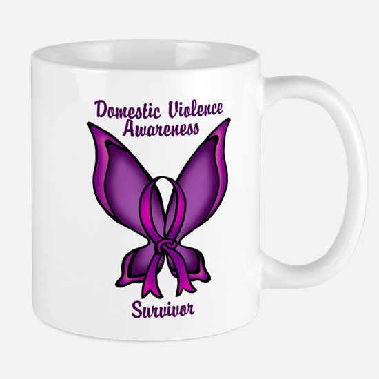 Domestic Violence Awareness Butterfly Ribbon Mug