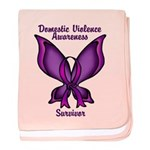 Domestic Violence Awareness Butterfly Baby Blanket