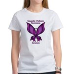 Domestic Violence Awareness Butterfly Ribbon Women