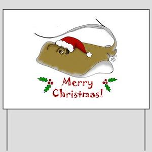 Christmas Stingray Yard Sign
