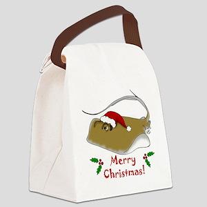 Christmas Stingray Canvas Lunch Bag