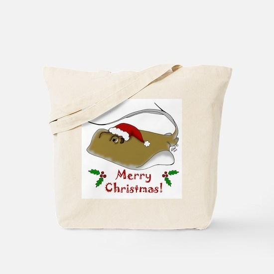 Christmas Stingray Tote Bag