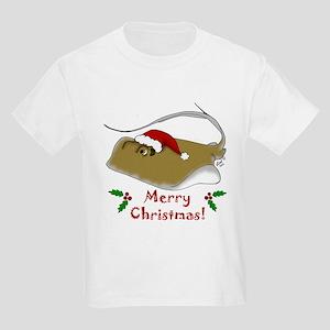 Christmas Stingray Kids Light T-Shirt