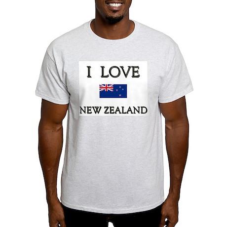 Flag of New Zealand Ash Grey T-Shirt