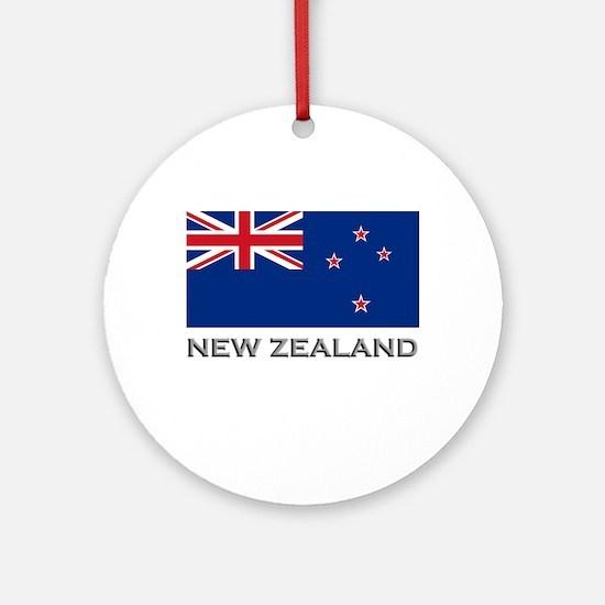 New Zealand Flag Stuff Ornament (Round)