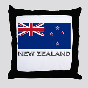 New Zealand Flag Stuff Throw Pillow