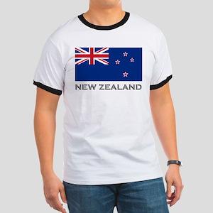 New Zealand Flag Stuff Ringer T