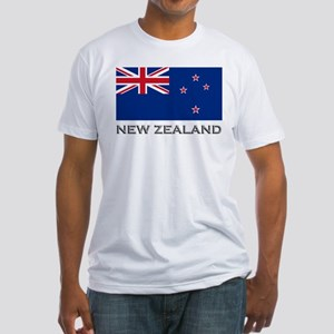 New Zealand Flag Stuff Fitted T-Shirt