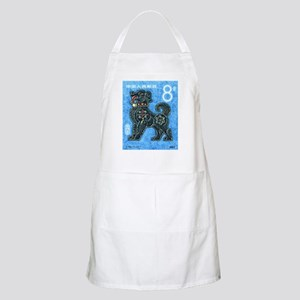 1982 China New Year Dog Postage Stamp Apron