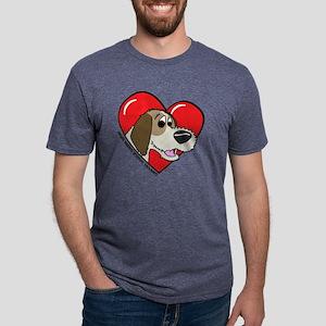 heartpbgv Mens Tri-blend T-Shirt